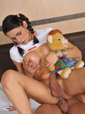 stacked-pigtailed-teen-tranny-with-long-legs-gets-bumfucked-with-her-plush-toy-in-hands