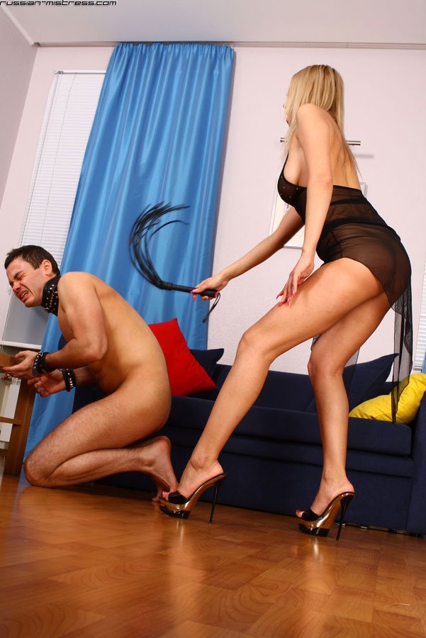 femdom whipping Russian