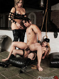 sexy-slave-man-gets-fucked-to-death-by-two-horny-as-hell-transsexual-mistresses