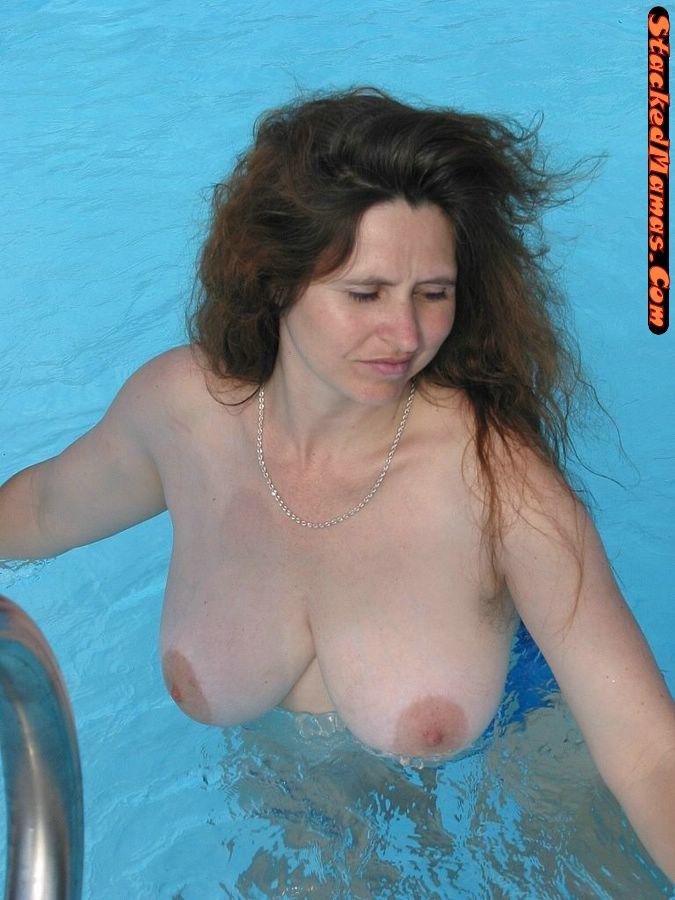 Pool nude chubby