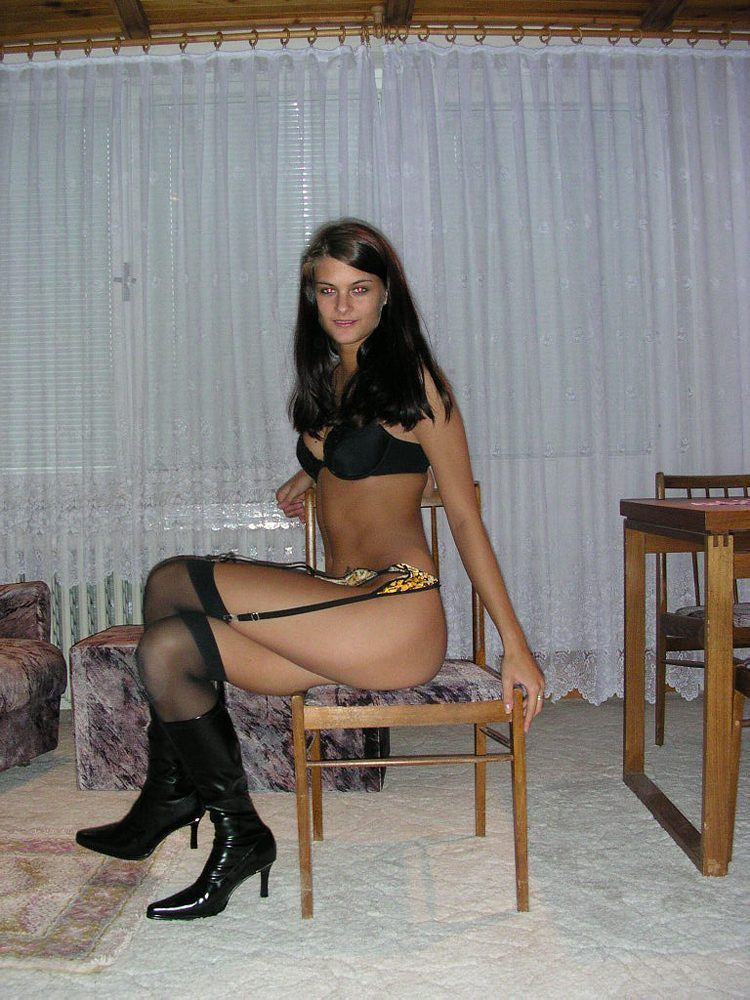 Girls Have A Pleasure Their Boots Stockings And Lingeries