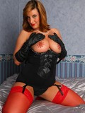 shameless-lady-in-red-stockings-and-black-gloves-gives-a-hot-view-of-her-pink-hole