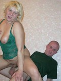 Middle aged blonde gets her horny mature pussy fucked after guy plays with her tits