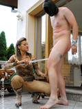 masked-man-gets-tortured-and-trained-by-high-heeled-mistress-outdoors