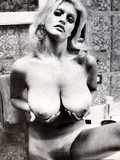 Shameless naked retro women demonstrate their massively big all natural titties