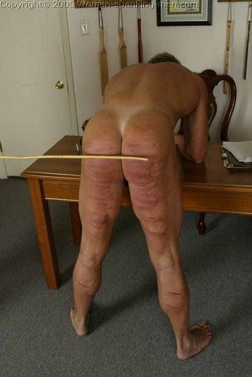 women spanking guy on butt